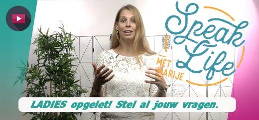 #SpeakLife: Marije heeft een belangrijke boodschap!