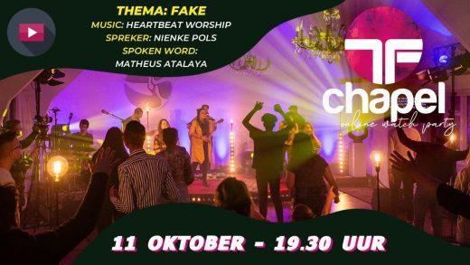 Transformed Chapel: 11 oktober gaan we weer LIVE! Met wie ga jij kijken?